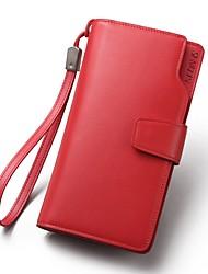 preiswerte -Damen Taschen Leder Handgelenk-Tasche Reißverschluss für Formal / Büro & Karriere Rote / Rosa
