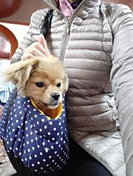 preiswerte -Hund Rucksack Haustiere Träger Tragbar Punkt Dunkelblau Rot Blau