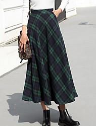 cheap -Women's Casual/Daily Midi Skirts,Simple Pencil Cotton Color Block Winter Fall