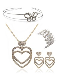 cheap -Women's Jewelry Set - Imitation Diamond Heart European, Fashion Include Headwear / Bridal Jewelry Sets Gold For Wedding / Party