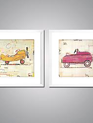 economico -Stampe a tela incorniciate Contemporaneo, Due Pannelli Tela Quadrato Stampa Decorazioni da parete Decorazioni per la casa