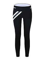 abordables -Femme Pantalons de Course Respirabilité Pantalon / Surpantalon Course / Running Polyester, Spandex Noir / Bleu de minuit S / M / L