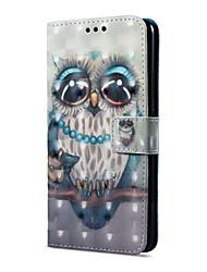 baratos -Capinha Para Huawei Mate 10 pro Mate 10 lite Porta-Cartão Carteira Com Suporte Flip Magnética Estampada Capa Proteção Completa Corujas
