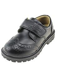 preiswerte -Jungen Schuhe Leder Frühling Sommer Komfort Flache Schuhe Klettverschluss für Draussen Kleid Schwarz Schwarz / weiss
