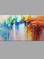 baratos -Pintados à mão Abstrato Paisagem Horizontal, Modern Tela de pintura Pintura a Óleo Decoração para casa 1 Painel