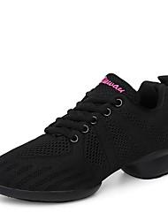 "cheap -Women's Dance Sneakers Knit Sneaker Professional Low Heel Black White 1"" - 1 3/4"" Customizable"