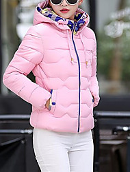 cheap -Women's Daily / Going out Coats / Jackets Down - Solid Colored