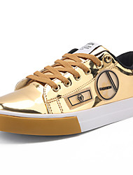 baratos -Homens Materiais Customizados Primavera / Verão Conforto Tênis Estampa Colorida Dourado / Preto / Prateado