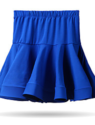 cheap -Latin Dance Bottoms Training Cotton Ruching Sleeveless Dropped Skirts