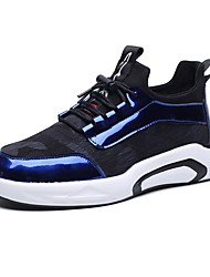 cheap -Light Soles Patent Leather / Fabric / PU(Polyurethane) Spring / Fall Comfort Sneakers Color Block Black / Gray / Light Blue