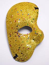 Недорогие -Карнавал Маскарадная маска Лиловый Красный Синий Золотой Цвет фуксии Пластик Косплэй аксессуары Маскарад