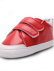 cheap -Girls' Shoes Leatherette Spring / Fall Comfort / First Walkers / Crib Shoes Flats Magic Tape for Gold / Silver / Red