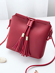 cheap -Women's Bags PU Shoulder Bag Flower for Shopping Casual All Seasons Blue Black Blushing Pink Gray Wine
