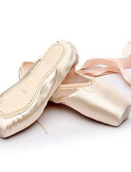 cheap -Ballet Silk Flat Customized Heel Pink/White Customizable