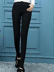 abordables -Femme Couleur Pleine Legging - Couleur Pleine Taille médiale