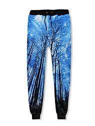 cheap -Men's Cotton Sweatpants Pants Print
