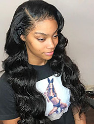cheap -Human Hair Lace Front Wig / Glueless Lace Front Wig Peruvian Hair Body Wave With Baby Hair 150% Density Natural Hairline Short / Medium Length / Long Human Hair Lace Wig