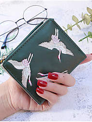cheap -Women's Bags PU Wallet Embroidery for Event/Party Shopping All Seasons Wine Gray Blushing Pink Black Green