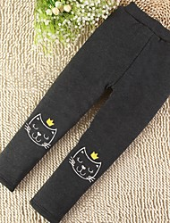 abordables -Pantalones Chica Estampado Algodón Invierno Dibujos Negro Azul Marino Gris