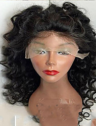 cheap -Human Hair Lace Front Wig Brazilian Hair Curly Weave With Baby Hair 130% Density Unprocessed 100% Virgin African American Wig Natural