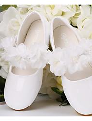 abordables -Fille Chaussures PU de microfibre synthétique Printemps / Automne Confort / Chaussures de Demoiselle d'Honneur Fille Ballerines pour Blanc
