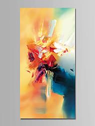 Недорогие -Ручная роспись Абстракция Вертикальная, Современный Modern Hang-роспись маслом Украшение дома 1 панель