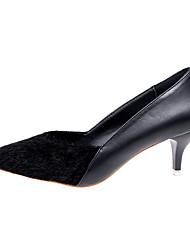 preiswerte -Damen Schuhe PU Frühling Herbst Pumps High Heels Spitze Zehe für Normal Büro & Karriere Schwarz Grau