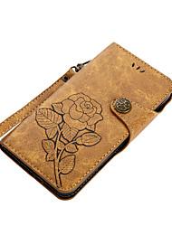 Недорогие -Кейс для Назначение Nokia Nokia 6 Nokia 5 Бумажник для карт Кошелек со стендом Флип Магнитный С узором Чехол Цветы Твердый Кожа PU для