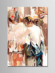 cheap -Hand-Painted People Vertical, Modern Canvas Oil Painting Home Decoration One Panel