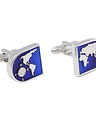 cheap -Button Blue Cufflinks Copper Globe Formal / Simple Men's Costume Jewelry For Daily / Formal