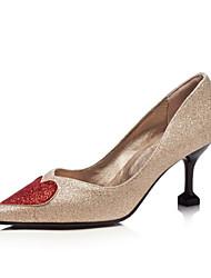 preiswerte -Damen Schuhe Glanz Frühling Herbst Neuheit Pumps High Heels Stöckelabsatz Spitze Zehe für Hochzeit Party & Festivität Gold Schwarz