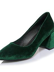 abordables -Femme Chaussures Laine synthétique Printemps / Eté Confort / Escarpin Basique Chaussures à Talons Talon Bottier Bout pointu Noir / Rouge