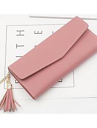 cheap -Women Bags PU Wallet Tassel for Casual Outdoor All Season Sky Blue Light Grey Blushing Pink Black