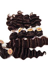 cheap -Brazilian Hair Straight / Deep Wave Virgin Human Hair Hair Weft with Closure Human Hair Weaves Dark Brown Human Hair Extensions