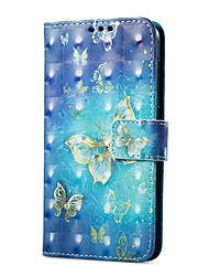 cheap -Case For Huawei P9 lite mini Card Holder Wallet with Stand Flip Magnetic Pattern Full Body Cases Butterfly Hard PU Leather for P9 lite