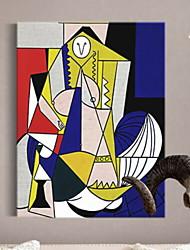 Недорогие -фантазия Масляные картины Предметы искусства,Алюминиевый сплав материал с рамкой For Украшение дома Предметы искусства в рамках Спальня В