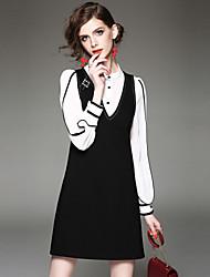 abordables -Femme Chemise - Couleur Pleine Robes