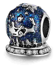 Недорогие -Ювелирные изделия DIY 1 штук Бусины Сплав Тёмно-синий Цилиндр Шарик 0.5 cm DIY Ожерелье Браслеты