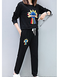 abordables -Mujer Noche Conjunto - Un Color Pantalón