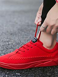 abordables -Homme Chaussures Polyuréthane Printemps Automne Confort Chaussures d'Athlétisme Course à Pied Lacet pour De plein air Noir Gris Rouge Bleu