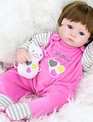 cheap -NPK DOLL Reborn Doll Baby Girl 18 inch Silicone / Vinyl - lifelike, Hand Applied Eyelashes, Tipped and Sealed Nails Kid's Girls' Gift / CE Certified / Natural Skin Tone / Floppy Head