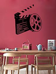 Недорогие -Мода Геометрия Наклейки Простые наклейки Декоративные наклейки на стены, Винил Украшение дома Наклейка на стену Окно Стена