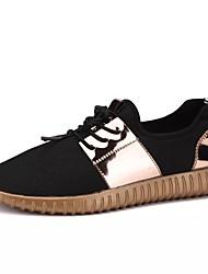 preiswerte -Herrn Schuhe PU Frühling Herbst Flache Schuhe für Normal Schwarz Silber/schwarz Schwarz und Gold