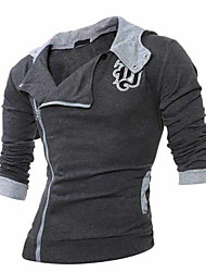 cheap -Men's Plus Size Hoodie - Solid Colored Block Hooded