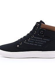 Недорогие -Муж. обувь Полотно Зима Осень Армейские ботинки Ботинки Ботинки для Повседневные Черный Серый Коричневый Зеленый Хаки