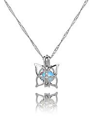 cheap -Women's Butterfly Classic Sweet Ethnic Pendant Necklace , Luminous Stone Alloy Pendant Necklace , Graduation Gift
