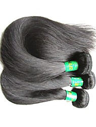 cheap -raw indian silk straight remy human hair bundles 3pieces 300g lot on sale indian virgin hair extensions weaves natural black color for 2018 new year