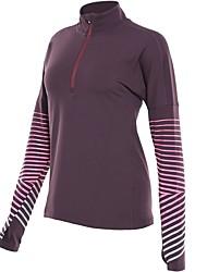 cheap -Women's Running T-Shirt Long Sleeves Quick Dry T-shirt for Running Cotton White Black Dark Blue Rose Red Violet S M L XL XXL