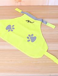 Недорогие -Кошка Собака Жилет Одежда для собак Однотонный Лолита Желтый Терилен Костюм Для домашних животных новый На каждый день