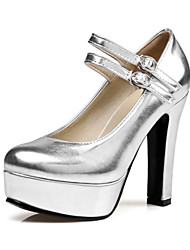 cheap -Women's Shoes Sparkling Glitter PU Spring Fall Comfort Novelty Heels High Heel Pointed Toe Buckle for Wedding Party & Evening Gold Black